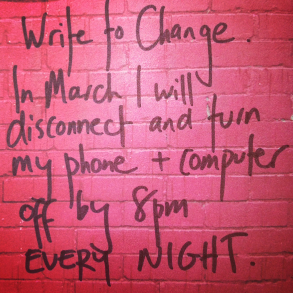 Write to Change: March