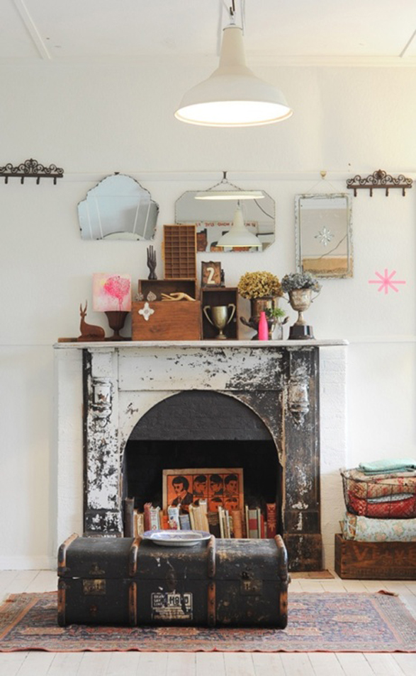 Inspiration Decorating A Fireplace Mantel Checks And Spots