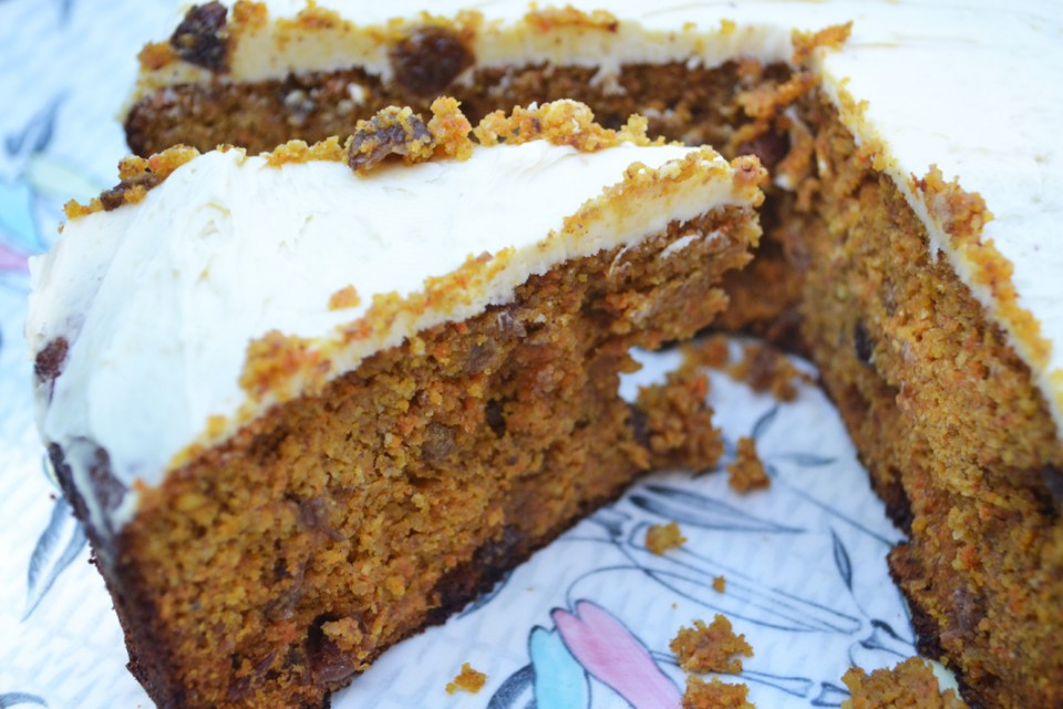 Wheat and Refined Sugar-Free Carrot Cake Recipe
