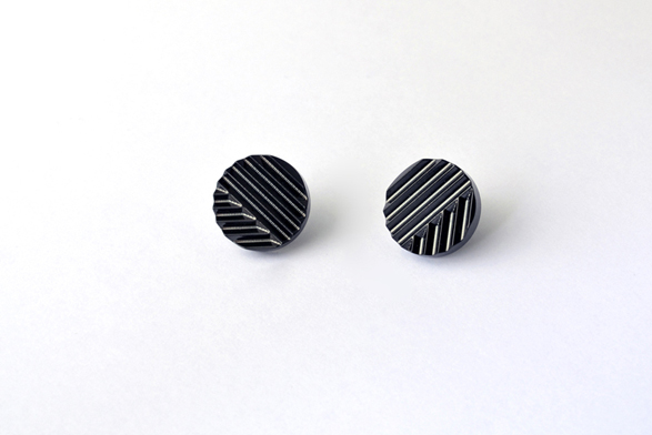 nick rennie - naname black earrings 1