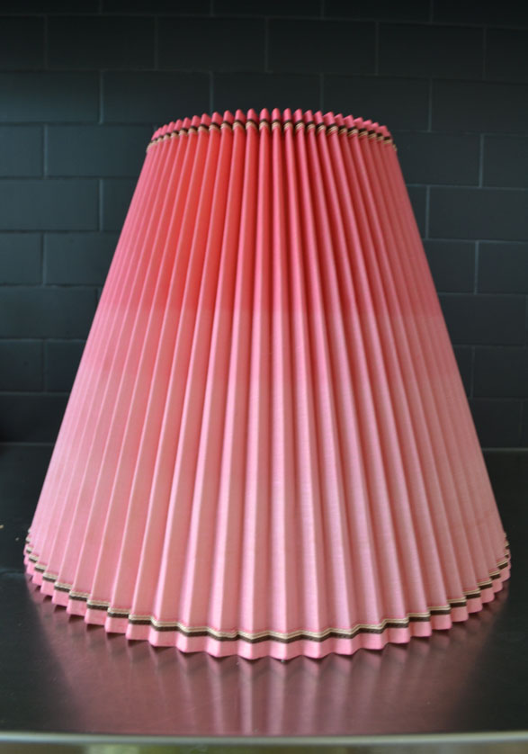 How to make an ombre dip dyed lampshade