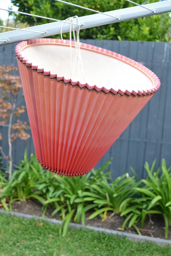 How to make a ombre dip dyed lampshade