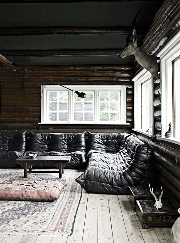 Home decorating inspiration - dark walls