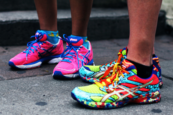 Colorful trainers
