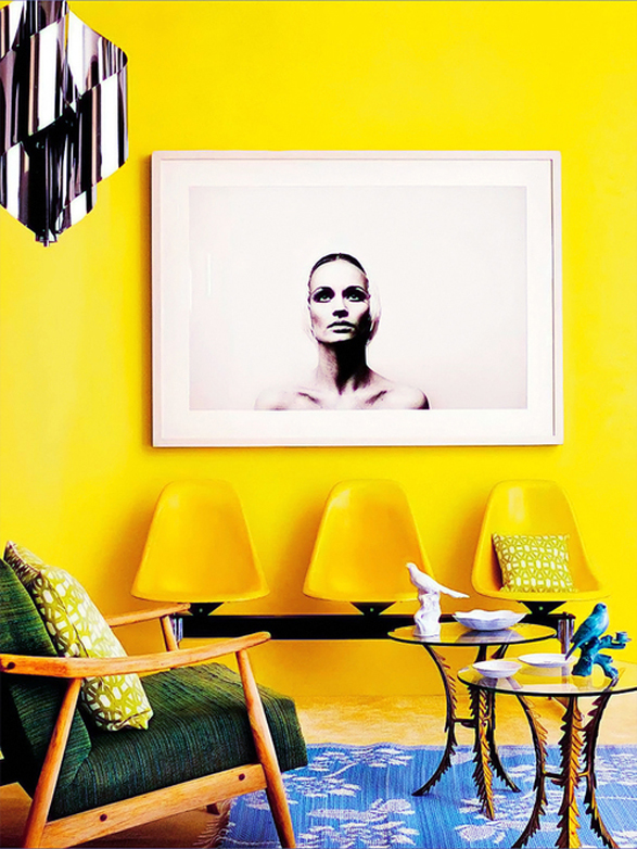 Inspiration Decorating With Yellow Checks And Spots