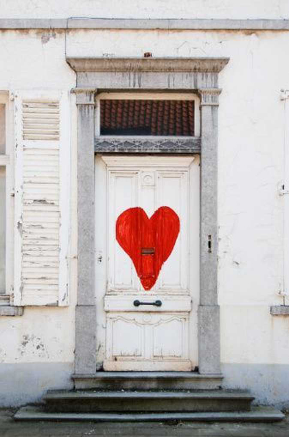Red Heart Front Door