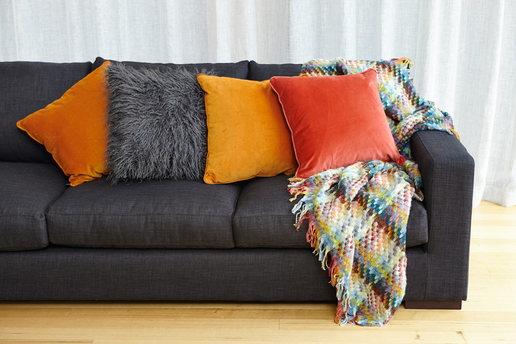 Tips And Inspiration For Updating Your Living Room With New Cushions Checks And Spots