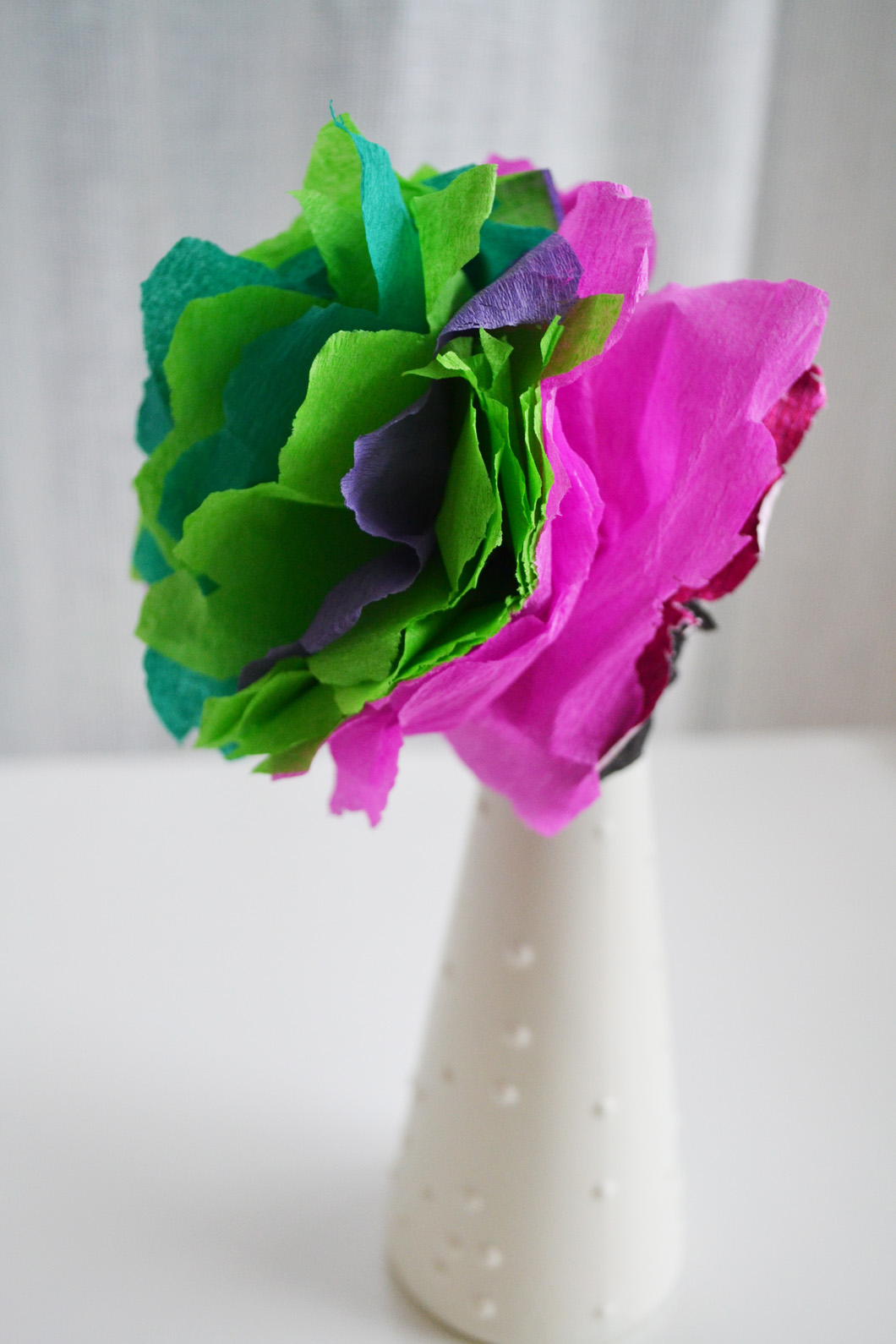 Kids Craft How To Make Pretty Paper Flowers Checks And