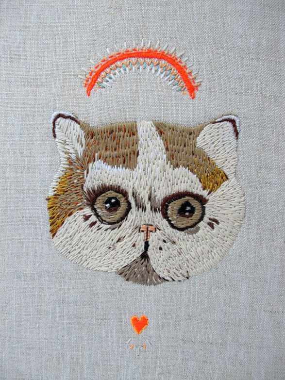 cat-embroidery