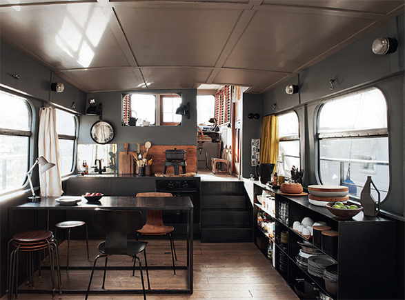 Delicieux Houseboat Barge Interiors 5 (587×435) | Houseboat | Pinterest |  Interiors